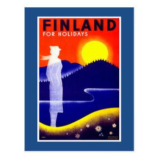 Finland Vintage Travel Poster Postcard