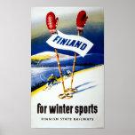 Finland Vintage Travel Poster Restored