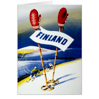 Finland Vintage Travel Poster Restored Card