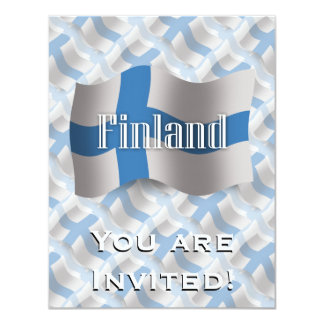 Finland Waving Flag Card