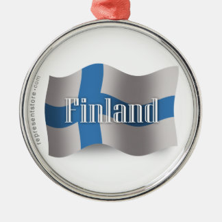 Finland Waving Flag Christmas Ornament