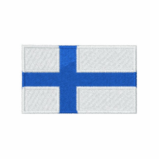 Finland world flag embroidered men s t-shirt
