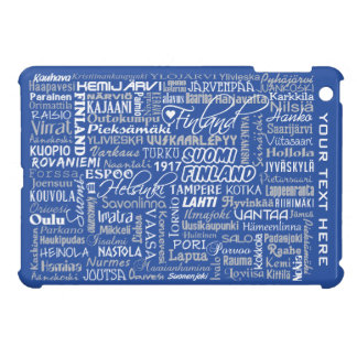 Finland's Towns custom cases iPad Mini Cases