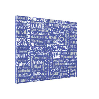 Finland's Towns custom color canvas print