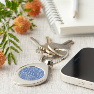 Finland's Towns custom key chain Silver-Colored Swirl Key Ring