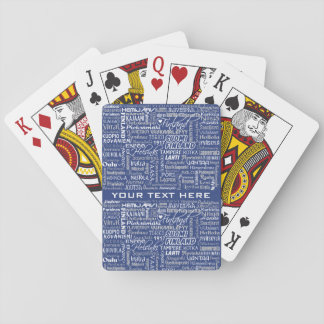 Finland's Towns custom playing cards