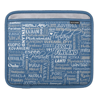 Finland's Towns iPad sleeve