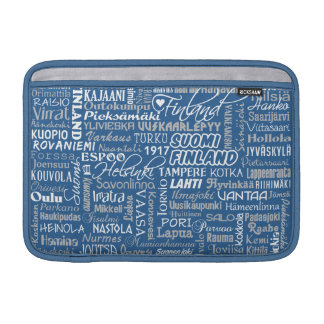 Finland's Towns MacBook sleeve