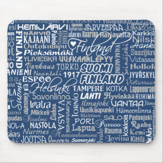 Finland's Towns mousepad