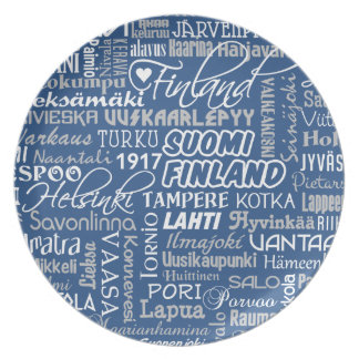 Finland's Towns plate