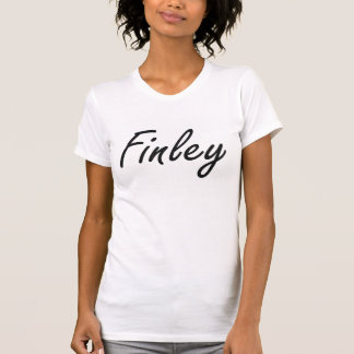 Finley artistic Name Design Tshirts