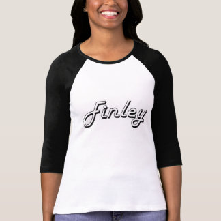 Finley Classic Retro Name Design T Shirts
