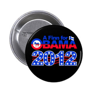 FINN FOR OBAMA 2012 button