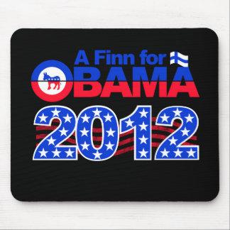 FINN FOR OBAMA 2012 mousepad