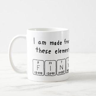 Finn periodic table name mug