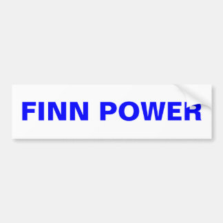 FINN POWER Bumper Sticker Upper Peninsula Finland
