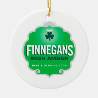 Finnegans Irish Amber Crest Christmas Ornament