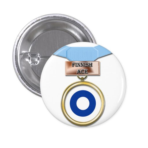 Finnish Ace medal button