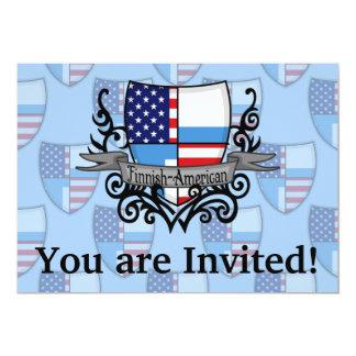 Finnish-American Shield Flag 13 Cm X 18 Cm Invitation Card