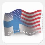 Finnish-American Waving Flag
