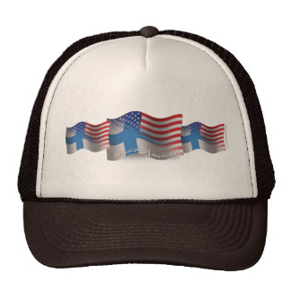 Finnish-American Waving Flag Hats