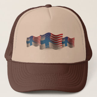 Finnish-American Waving Flag Trucker Hat