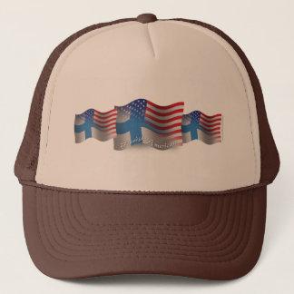 Finnish-American Waving Flag Trucker Hat