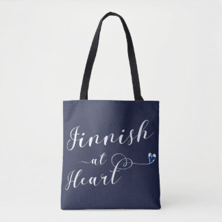 Finnish At Heart Grocery Bag, Finland Tote Bag