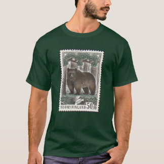 Finnish Bear Stamp Forest Green T-Shirt
