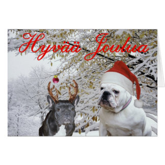 Finnish Bulldog Christmas 2 Card