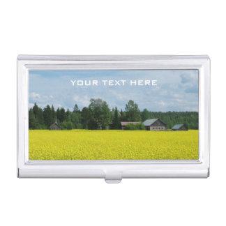 Finnish Countryside custom business card holder