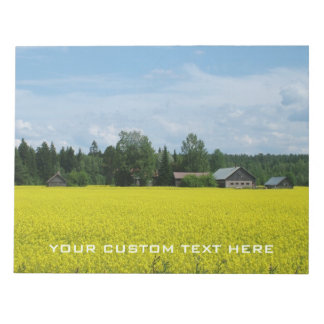 Finnish Countryside custom notepad
