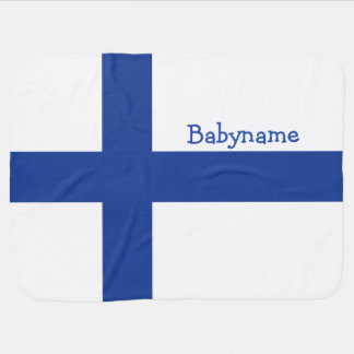 Finnish Flag custom baby blanket