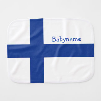 Finnish Flag custom burp cloth