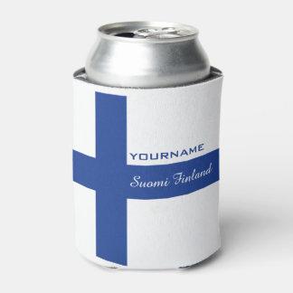 Finnish Flag custom can cooler