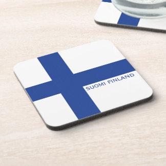 Finnish Flag custom coasters