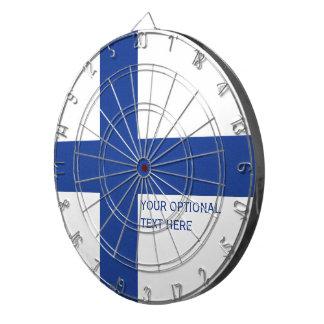 Finnish Flag custom dart board