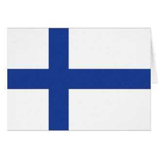 Finnish Flag custom greeting cards