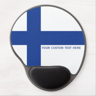 Finnish Flag custom mousepad Gel Mouse Mat