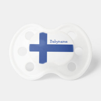 Finnish Flag custom pacifier