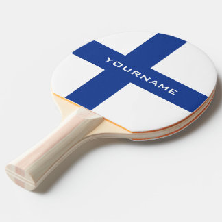 Finnish Flag custom ping pong paddle