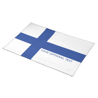 Finnish Flag custom placemats