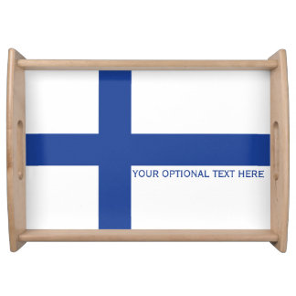 Finnish Flag custom serving tray