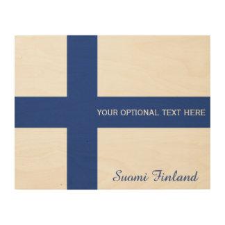 Finnish Flag custom wood print