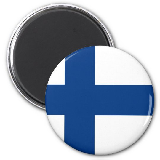 Finnish Flag on Magnet