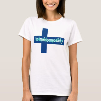 Finnish Flag Trigeminal Neuralgia shirt. T-Shirt