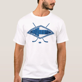 Finnish Hockey Flag Logo Suomi T-Shirt