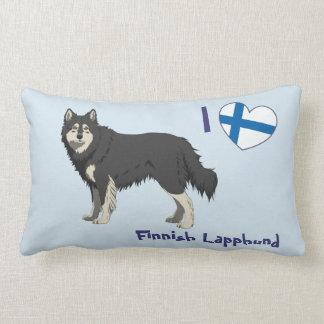 Finnish Lapphund (black white) pillow long