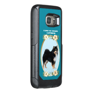 Finnish Lapphund on Teal Floral OtterBox Samsung Galaxy S7 Case