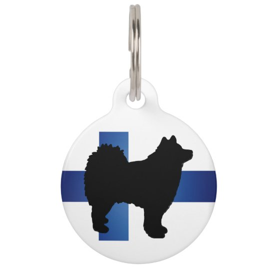 finnish lapphund silo flag-finland.png pet ID tag